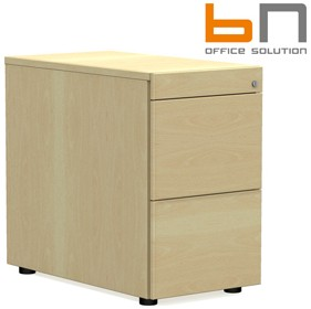 BN SQart Managerial Veneer 2 Drawer Desk High Pedestals With Pen Tray £961 - Office Desks