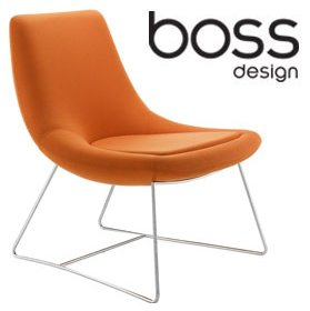Boss Design Swing Low Back Lounge Chair With Sled Base £618 - Office Chairs