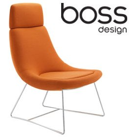 Boss Design Swing High Back Swing Lounge Chair With Sled Base £721 - Office Chairs
