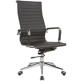 Sector High Back Enviro Leather Chair £124 - Office Chairs