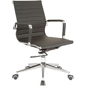 Sector Medium Back Enviro Leather Chair £128 - Office Chairs