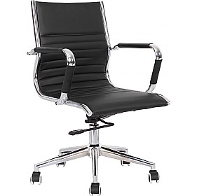 Explorer Medium Back Enviro Leather Chair £140 - Office Chairs
