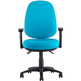Tick High Back Operator Chair With Height Adjustable Arms £289 - Office Chairs