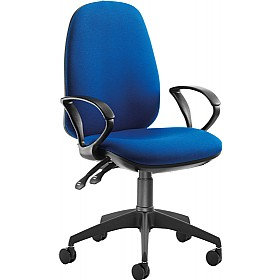 Tick High Back Operator With Fixed Arms £206 - Office Chairs