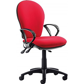 Urban High Back Operator Chair With Fixed Arms £206 - Office Chairs