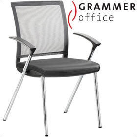 Grammer Office SAIL Leather & Mesh Conference Chair £238 - Office Chairs