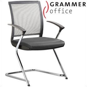Grammer Office SAIL Leather & Mesh Cantilever Conference Chair £262 - Office Chairs