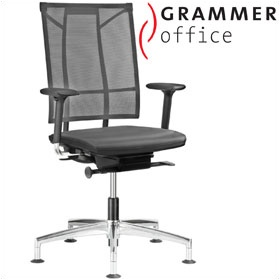 Grammer Office SAIL Leather & Mesh Swivel Conference Chair £351 - Office Chairs