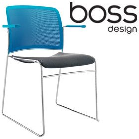 Boss Design Starr Multi Coloured Chair With Arms £160 - Office Chairs