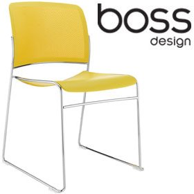 Boss Design Starr Skid Base Conference Colour Chair £133 - Office Chairs