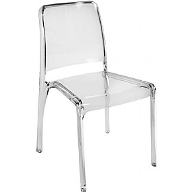 Pure Transparent Cafe Chair In Clear Finish £95 - Bistro Furniture