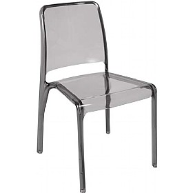 Pure Transparent Cafe Chair In Smoked Finish £95 - Bistro Furniture