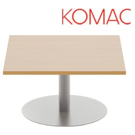 Komac Reef Square Coffee Table Round Base £247 - Reception Furniture