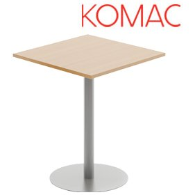 Komac Reef Square Poseur Table Round Base £262 - Bistro Furniture