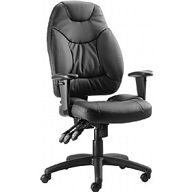 Genesis Leather Chair £161 - Office Chairs