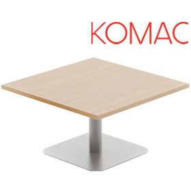 Komac Reef Square Coffee Table Square Base £244 - Reception Furniture