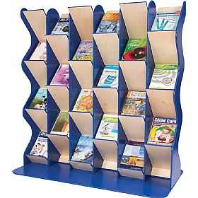 Colourama Zig Zag Book Display A4 - Triple Extension £595 - Education Furniture