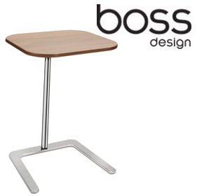 Boss Design Flamingo Chrome Veneer Laptop Table £533 - Computer Desks
