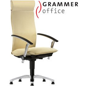 Grammer Office Tiger UP Microfibre Swivel Conference Armchair With Headrest £870 - Office Chairs