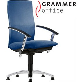 grammer office tiger up high back fabric swivel conference