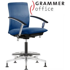 Grammer Office Tiger UP Medium Back Fabric Counter Chair £542 - Office Chairs