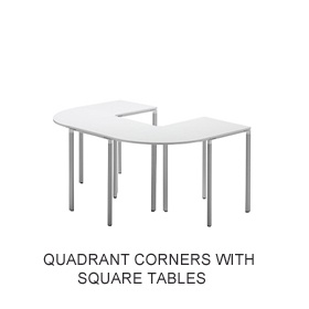 Meet-U Corners Quadrant £0 - Meeting Room Furniture