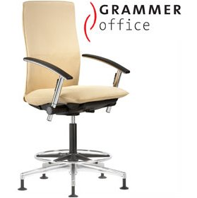 Grammer Office Tiger UP High Back Microfibre Counter Chair £576 - Office Chairs