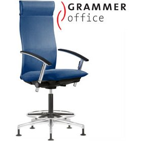 Grammer Office Tiger UP Fabric Counter Armchair With Headrest £904 - Office Chairs