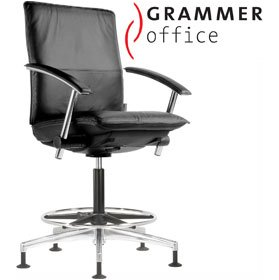 Grammer Office Tiger UP Medium Back Leather Counter Chair £542 - Office Chairs