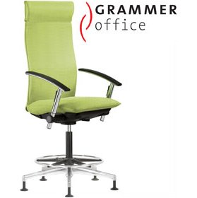 Grammer Office Tiger UP Textile Mesh Counter Armchair With Headrest £1042 - Office Chairs