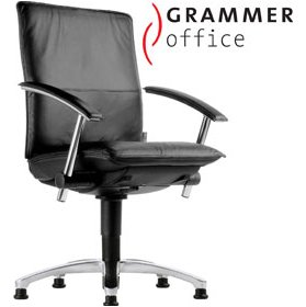 Grammer Office Tiger UP Medium Back Leather Swivel Conference Chair £396 - Office Chairs