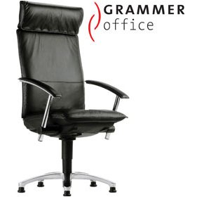 Grammer Office Tiger UP Leather Swivel Conference Armchair With Headrest £845 - Office Chairs