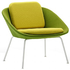 Dishy Low Back Reception Chair £616 - Reception Furniture