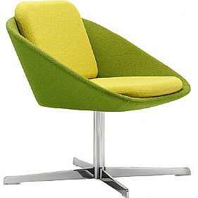 Dishy Low Back Swivel Reception Chair £824 - Reception Furniture