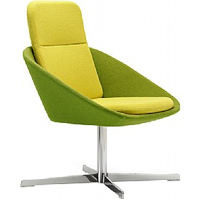 Dishy High Back Swivel Reception Chair £845 - Reception Furniture