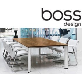 Boss Design Apollo Deluxe Boardroom Table £2459 - Meeting Room Furniture