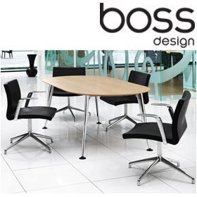 Boss Design Pegasus Oval Meeting Table £863 - Meeting Room Furniture