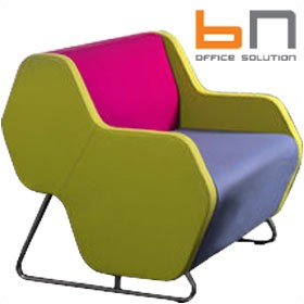 BN Hexa Standalone Visitor Chair £857 - Reception Furniture