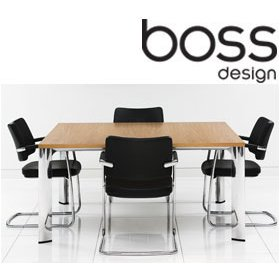 Boss Design Apollo Square Meeting Tables Boss Design Apollo - Square meeting table