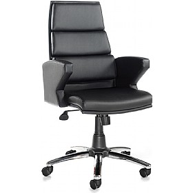 Milo Leather Faced Executive Chair Black £205 - Office Chairs