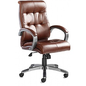 Carini Leather Faced Managers Chair £161 - Office Chairs