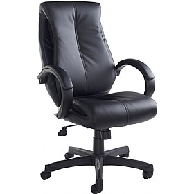 Breton Leather Faced Managers Chair £128 - Office Chairs