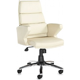Milo Leather Faced Executive Chair Cream £205 - Office Chairs
