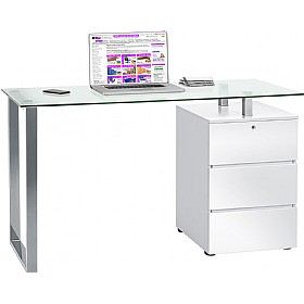 Century Glass Computer Desk £216 - Computer Desks