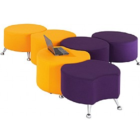 Casino Circular Stools With Legs £271 - Reception Furniture
