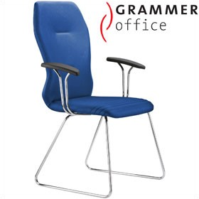 Grammer Office Galileo Fabric Skid Base Side Chair £499 - Office Chairs