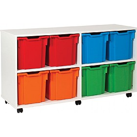 8 Tray Jumbo White Range Storage Unit £0 - Education Furniture