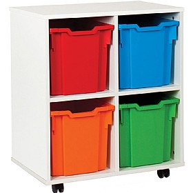 4 Tray Jumbo White Range Storage Unit £0 - Education Furniture