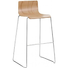 Java Beech Bar Stool £185 - Bistro Furniture