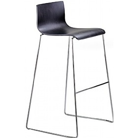 Java Black Beech Bar Stool £194 - Bistro Furniture